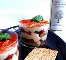 Recette - Tiramisu au parmesan et tomates confites - Notée 4.6/5 par les internautes