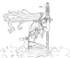 Elf Warrior Coloring Page | CSS Elf Lineart by TerraForever on deviantART