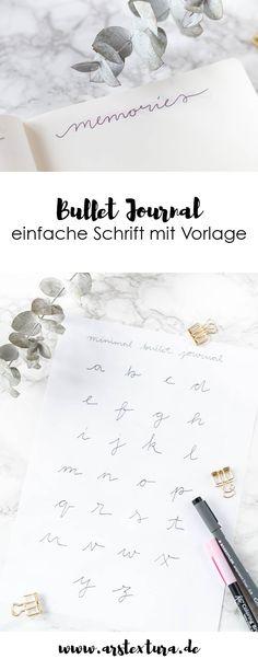 Bullet Journal für Minimalisten - Bullet Journal Inspiration und Ideen mit Layouts für einen Monat und jede Woche - mit Video-Anleitung - einfache Schönschrift zum Download