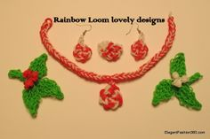 Rainbow Loom matching set jewelry for holiday party ♥ Subscribe YouTube channel: https://www.youtube.com/user/ElegantFashion360 ♥ Check out my web site: http://elegantfashion360.com ♥ Like us on Facebook: http://on.fb.me/1bz2WYi ♥ Follow us on Twitter: https://twitter.com/asianais Creativity is an Attitude!!! Good Luck!