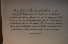 from the Preface to Leaves of Grass by Walt Whitman