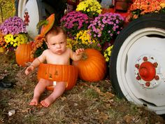 Fall Baby Photo Ideas... Pumpkin Patch. Fall Baby Photos, Pumpkin Photos, Holiday Ideas, Holiday Decor, Baby Pictures, Photo Ideas, Patches, Halloween, Create