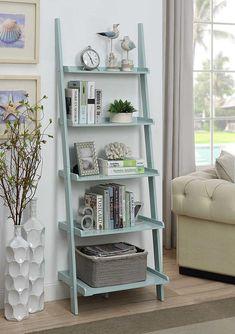 Convenience Concepts American Heritage Bookshelf Ladder, Brown