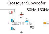 It is a circuit diagram of a subwoofer amplifier transistor fully used as the main amplifier, which can produce an output of 100W. There are seven transistors including four in the output stage.