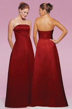 Amazing A-line empire waist satin dress for bridesmaid,$132.80