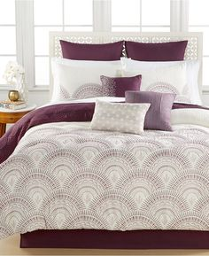 Reese Plum 10-Piece California King Comforter Set - $119.99