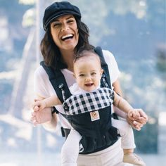8fb6f5107fb Ergobaby 360 All Carry Positions Ergonomic Baby Carrier – Gingham Noir