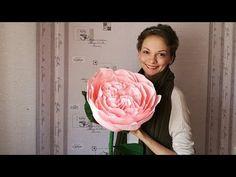 Пионовидная роза из гофрированной бумаги - YouTube