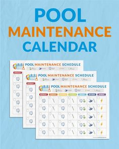 Print this handy calendar and put on your fridge so the whole family can help you take care of the pool this season.
