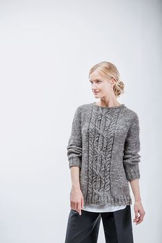 Ravelry: Sourcebook Top-Down Pullover pattern by Norah Gaughan