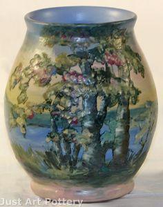Weller Pottery Scenic Hudson Vase (Pillsbury) from Just Art Pottery