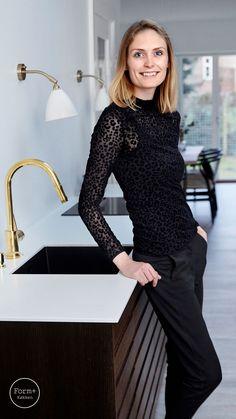 Ikea Hacks, Diy Furniture, Dresses With Sleeves, Studio, Interior, Kitchen, Black, Houses, Design
