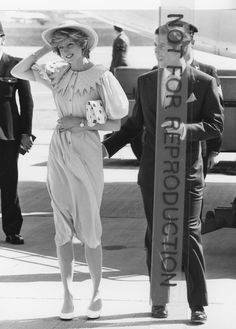 Princess Diana Prince Charles at Airport Original Undated British Photo | eBay