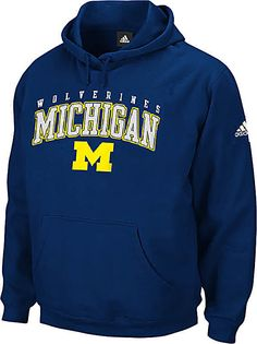 Michigan Wolverines Embroidered Playbook II Hooded Sweatshirt by Adidas $49.95