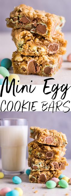 These Easter Mini Egg cookie bars are a fun and decadent way to eat your Cadbury Mini Eggs. They're soft, melty, and totally addictive.