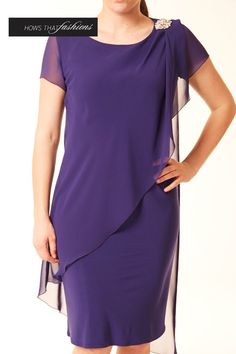 Laura K - Other colours available In store: Charcoal, Emerald, Red Online: Ocean Plus over 30 current styles available in-store now! Pretty Dresses, Sexy Dresses, Fashion Dresses, Short Sleeve Dresses, Cute Clothes For Women, Cape Dress, Indian Designer Outfits, Mothers Dresses, Plus Size Tops