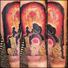 ♡ love love love Beauty and the Beast Tattoo Disney