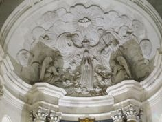 The interior Ceiling of the Fatima Cathedral, Portugal