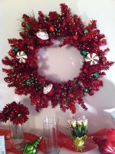 Christmas wreath on Etsy, $79.00