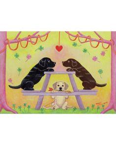 Lab Romance Labrador Art Print