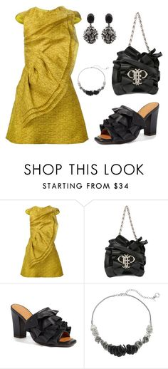 """""""208. Contest entry: Fave Designers: Christian Siriano"""" by sollis ❤ liked on Polyvore featuring Christian Siriano, Emilio Pucci, Chie Mihara, Simply Vera, Marni, ruffle, blackandyellow and contestentry"""