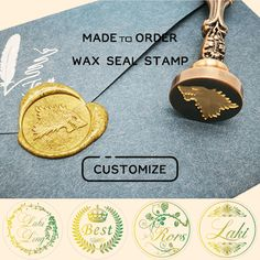 Kooer Crow Wax Seal Stamp Custom Crow Sealing Wax Stamp Kit Crow Wax Stamp Set Personalized Wedding Anniversary Invitation Seal Stamp