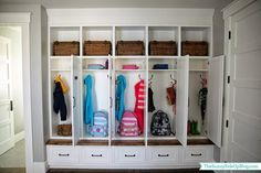 Let these mudroom entryway ideas welcome you home. Instantly tidy up and organize your hallway or entryway with industrial mudroom entryway. Mudroom Cubbies, Mudroom Cabinets, Mudroom Laundry Room, Mud Room Lockers, Entry Lockers, Bench Mudroom, Organizing Your Home, Home Organization, Organisation Ideas