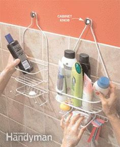 Hang a second shower caddy Like this solution for toiletry storage in the shower