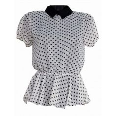 Blusa de Gasa con Corazones T305 Polka Dot Top, Tops, Women, Fashion, Chiffon Blouses, Hot Clothes, Clothes Shops, Spring Fashion, Fashion Trends