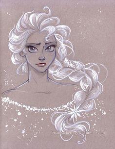Original Art Elsa by briannacherrygarcia on Etsy