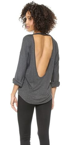 Long Sleeved Open Back Pullover. Cool top