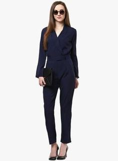 ,navy_blue ,solid_jumpsuit ,collered ,professional ,formal_wear ,black_pumps ,round_sunglasses ,black_leather_envelope_purse  http://www.jabong.com/magnetic-designs-Navy-Blue-Solid-Jumpsuit-1888192.html?pos=75