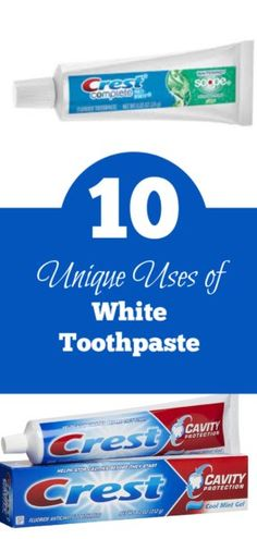 10 unique ways to use Crest toothpaste besides brushing your teeth. Check out these 10 ways you can use white toothpaste around your house - zahnpasta I Want To Know, Money Today, Cavities, Simple Living, Brushing, Cleaning Hacks, Helpful Hints, Saving Money, Teeth
