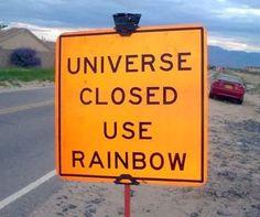 In Albuquerque, NM, Rainbow Road runs parallel to Universe Blvd.