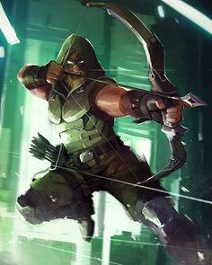 Green Arrow - Lap Pun Cheung - Visit to grab an amazing super hero shirt now on sale! Comic Book Characters, Comic Book Heroes, Comic Character, Comic Books Art, Comic Art, Comic Pics, Dc Comics Superheroes, Dc Comics Art, Marvel Dc Comics