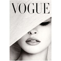 VOGUE MAGAZINE COVER Vintage Black and White Hat Fashion Cover Art... ($5.12) ❤ liked on Polyvore featuring home, home decor, wall art, art, fillers, photo, magazine, photography wall art, black white wall art and black and white photography wall art