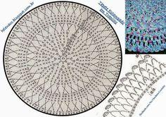 Stitch crochet pattern home Crochet Flower Patterns, Crochet Flowers, Crochet Chart, Crochet Stitches, Tshirt Garn, Crochet Home, Crochet Rugs, Round Rugs, Rug Making