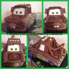 Mater Tow Truck cake by BeautifullyDeliciousByDanielle Race Car Cakes, Truck Cakes, Food Truck Party, Mater Cake, Mcqueen Cake, Cars Birthday Parties, Birthday Cake, Cake Models, Cake Templates