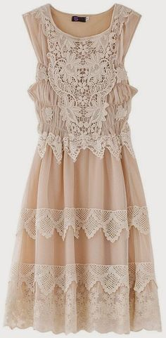 Lace Embroidered Sleeveless Dress. Another idea for the bridesmaids.
