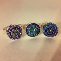 My crystal clay creations- polymer clay jewelry Polymer Clay Ring, Diy Jewelry Making, Clay Creations, Epoxy, Jewelry Ideas, Jewlery, Stud Earrings, Crystals, Crafts