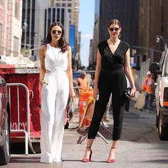 Look Catharina Dieterich e Manuela Bordasch na Fashion Week de NY.