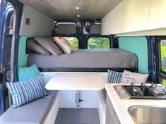 """""""And just like that, we're ready for a new adventure"""" 🌍 Checkout 📷 by Mercedes Bus, Diy Van Conversions, Sprinter Van Conversion, And Just Like That, Metal Box, Tiny Living, New Adventures, Camper Van, Van Life"""