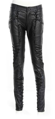 d6ee7add648 Gothic leather-look women s pants by RQ-BL Black Leather Pants