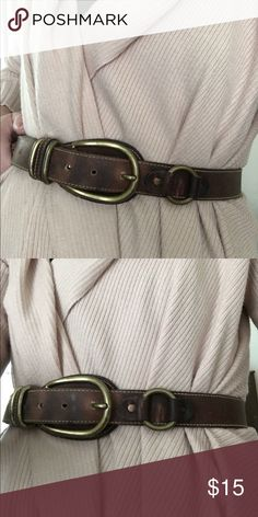 Vintage leather belt Brown vintage leather belt, great to wear on waist or hips Accessories Belts
