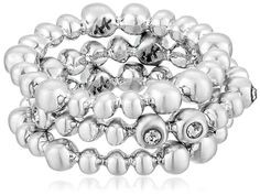 Karen Kane Summer Solstice Silver Tone Stackable Ring, Size 7 -- Click image to review more details.