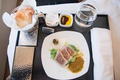 Etihad Business Class Vorspeise. #businessclass #airbus #boeing #economyclass #firstclass #etihad #travel #review #food
