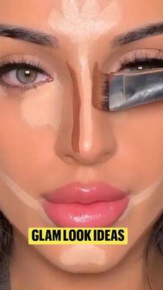 Contour Makeup, Skin Makeup, Face Contouring, Cool Makeup Looks, Simple Makeup, Makeup Videos, Makeup Tips, Makeup Face Charts, Makeup Looks Tutorial