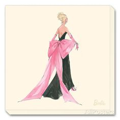 Barbie?, Big Pink Bow Stretched Canvas Print By Robert Best - 12x12 | eBay