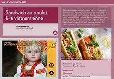 Sandwich au poulet àlavietnamienne - La Presse+ Menu, Food To Make, Sandwiches, Brunch, Salad, Magazine, Dishes, Chicken, Recipes