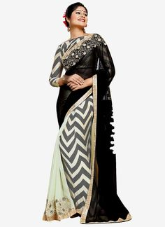 Glossy Georgette Print Work Casual Saree